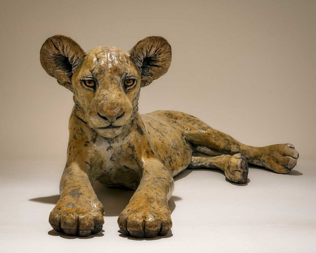 Buy this lovely ceramic sculpture by Nick in aid of conservation