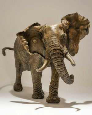 Buy this magnificent bronze sculpture by Nick in aid of conservation